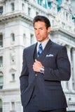 Портрет красивого американского бизнесмена среднего возраста в Нью-Йорке Стоковая Фотография