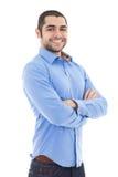 Портрет красивого арабского бизнесмена изолированного на белизне Стоковые Изображения RF
