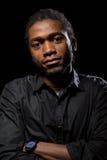 Портрет красивого Афроамериканца Стоковое фото RF