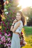 Портрет красивого брюнет внешнего стоковые фотографии rf
