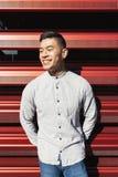 Портрет красивого китайского молодого человека стоковые фотографии rf