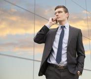 Портрет красивого молодого бизнесмена Стоковое Фото