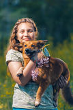 Портрет красивого молодого девочка-подростка Стоковая Фотография