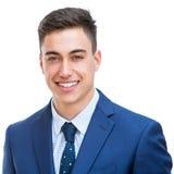 Портрет красивого молодого изолированного бизнесмена Стоковые Фотографии RF