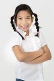Портрет красивой азиатской девушки с счастливой стороной Стоковые Фото