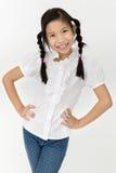 Портрет красивой азиатской девушки с счастливой стороной Стоковые Фотографии RF