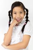 Портрет красивой азиатской девушки с счастливой стороной Стоковое Фото