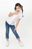 Портрет красивой азиатской девушки с счастливой стороной Стоковое Изображение