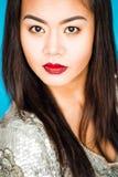 Портрет красивой девушки в студии Стоковое Изображение