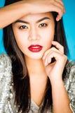 Портрет красивой девушки в студии Стоковые Изображения RF