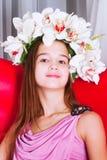 Портрет красивой девушки европейского возникновения Стоковые Фотографии RF