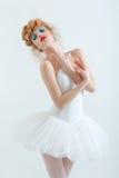 Портрет красивой девушки с составом моды Стоковое Изображение