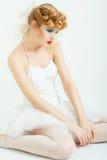 Портрет красивой девушки с составом моды Стоковые Изображения