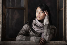 Портрет красивой девушки стоковые изображения rf