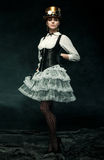 Портрет красивой девушки steampunk Стоковое фото RF
