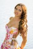 Портрет красивой естественной молодой женщины Стоковое Изображение RF