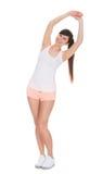 Портрет красивой женщины делая протягивающ тренировку Стоковое Изображение