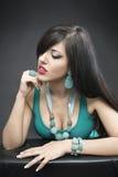 Портрет красивой женщины моды Стоковые Изображения
