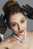 Портрет красивой женщины любит известная актриса Стоковые Фото