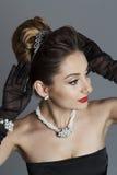 Портрет красивой женщины любит известная актриса Стоковые Фотографии RF