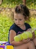 Портрет красивой маленькой девочки стоковое фото rf