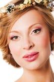 Портрет красивой модели молодой женщины Стоковое Изображение