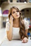 Портрет красивой молодой дамы вне ходя по магазинам Стоковое Фото
