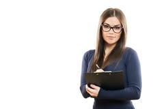 Портрет красивой молодой бизнес-леди Стоковые Фото