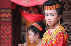 Портрет красивой молодой девушки Torajan Стоковая Фотография