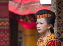 Портрет красивой молодой девушки Torajan Стоковые Фотографии RF