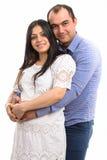 Портрет красивой пожененной пары надеясь младенца Стоковое Изображение RF