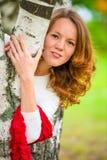 Портрет красивой тонкой девушки Стоковые Фото