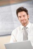 Портрет красивый усмехаться бизнесмена Стоковая Фотография RF