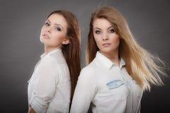 Портрет 2 красивый photomodels Стоковое Фото