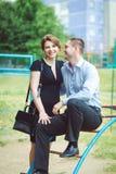 Портрет 2 красивых молодых любовников Стоковые Фотографии RF