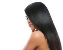 Портрет красотки азиатской девушки брюнет Стоковое фото RF