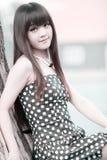 портрет красотки Азии напольный стоковые изображения rf