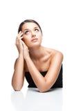 Портрет красотки женщины брюнет thoughtfull Стоковые Фотографии RF