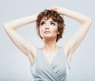 Портрет красотки женщины Стоковое Изображение RF
