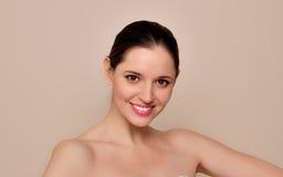 Портрет красоты. Естественная красота молодой женщины. Стоковое Изображение RF