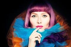 Портрет красоты женщины моды Стоковые Фотографии RF