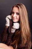 Портрет красоты. Красивая женщина на черной предпосылке стоковая фотография