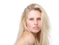 Портрет красоты красивой белокурой женщины Стоковое Изображение