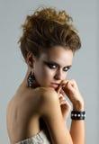 Портрет красоты молодой женщины Стоковые Фотографии RF