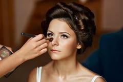 Портрет красоты молодой и привлекательной женщины Стоковые Изображения RF