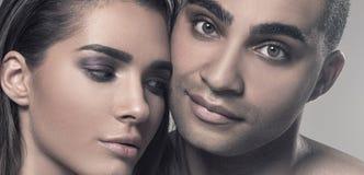 Портрет красоты привлекательных пар Стоковые Изображения RF