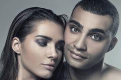 Портрет красоты привлекательных пар Стоковое Фото
