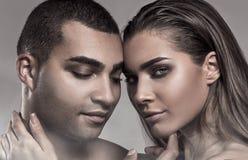 Портрет красоты привлекательных пар Стоковое Изображение RF