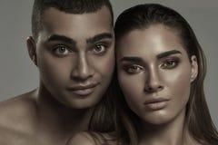 Портрет красоты привлекательных пар Стоковое Изображение
