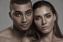 Портрет красоты привлекательных пар Стоковые Изображения